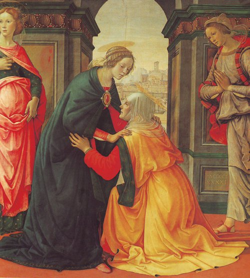 The Visitation   Domenico Ghirlandaio   oil painting