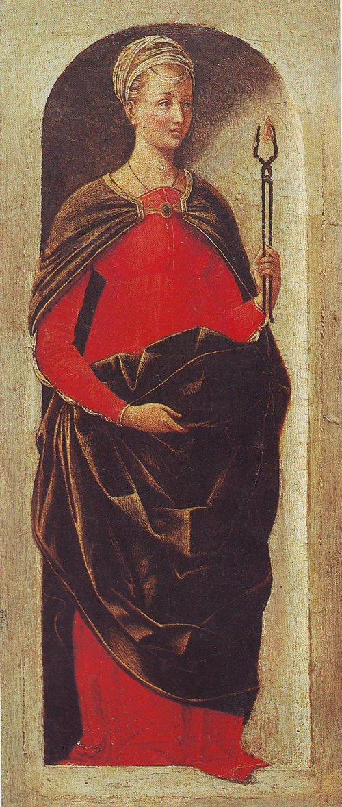 St Apollonia | Ercole De Roberti | oil painting