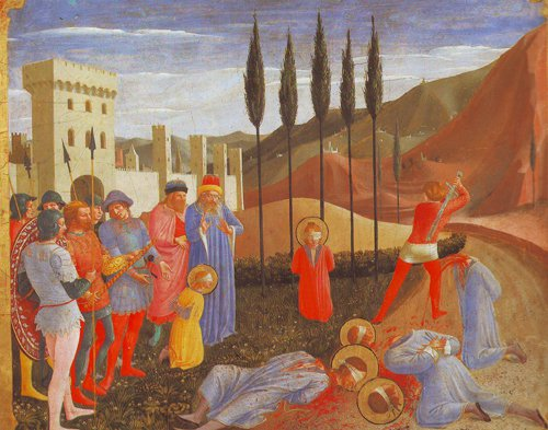 The Martyrdom Of Saints Cosmas And Damian | Fra Angelico | oil painting
