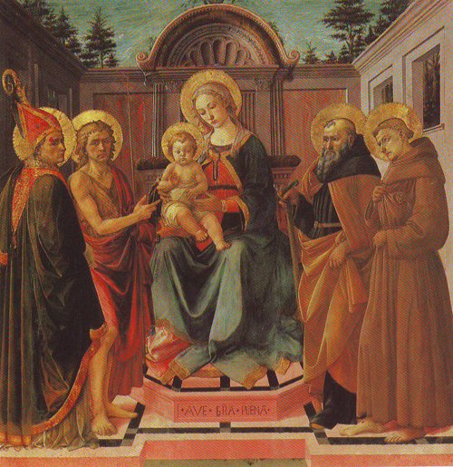 The Virgin And Child Surrounded By Four Persons | Francesco Di Stefano | oil painting
