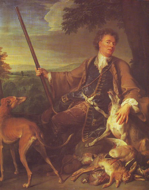 Portrait Of The Artist In Hunting Dress | Francois Desportes | oil painting
