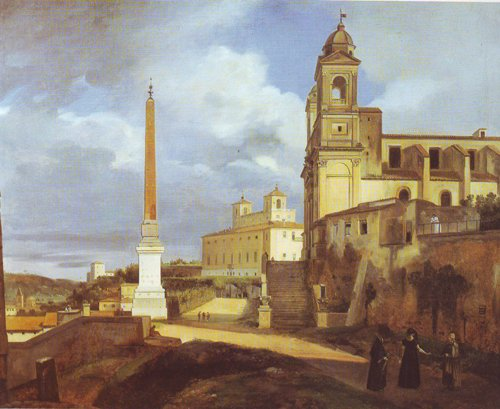 The Church Of Trinita Dei Monti In Rome | Francois-Marius Granet | oil painting