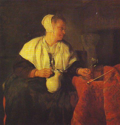 The Lazy Tippler   Gabriel Metsu   oil painting