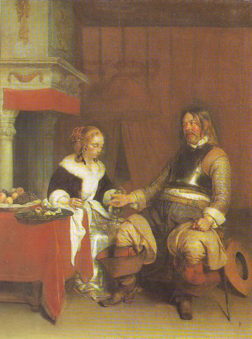 The Military Admirer | Gerard Ter Borch | oil painting