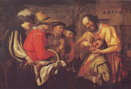 The Tooth Puller | Gerrit Van Honthorst | oil painting