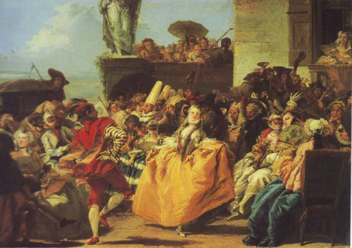 Carnival Scene Or The Minuet | Gian Domenico Tiepolo | oil painting