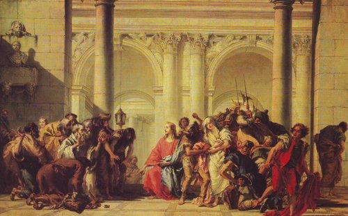 Christ With The Woman Taken In Adultery | Gian Domenico Tiepolo | oil painting