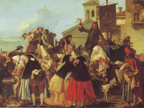 The Tooth Puller | Gian Domenico Tiepolo | oil painting