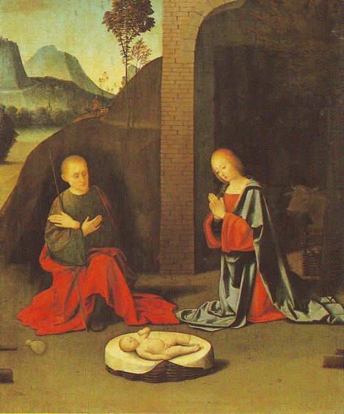 The Nativity | Giovanni Battista Ortolano | oil painting