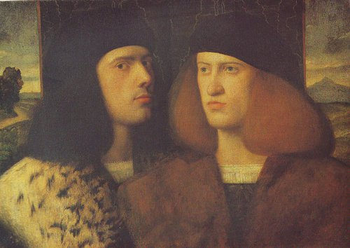 Portrait Of Two Young Men | Giovanni Cariani | oil painting