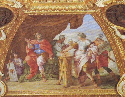 Mucius Scaevola | Giovanni Francesco Romanelli | oil painting