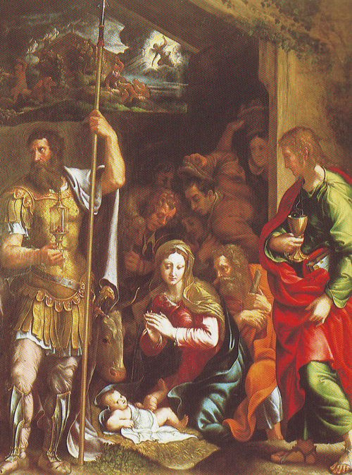 The Nativity And Adoration Of The Shepherds | Giulio Pippi | oil painting