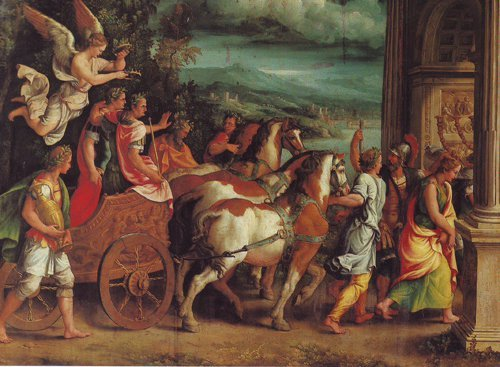 The Triumph Of Titus And Vespawian | Giulio Romano | oil painting