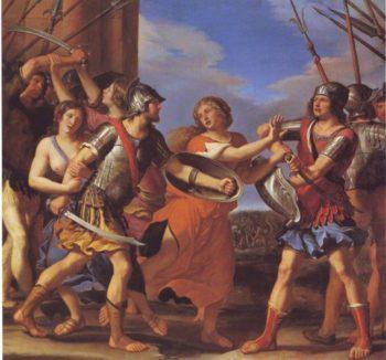 Hersilia Separating Romulus From Tatius | Guercino | oil painting