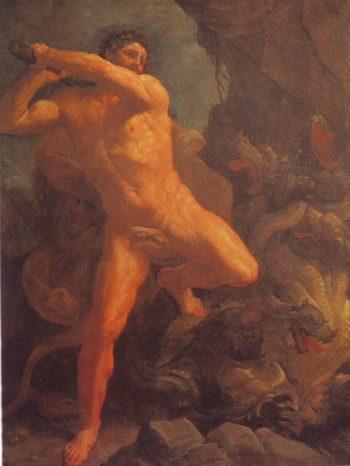 Hercules Vanquishing The Hydra | Guido Reni | oil painting