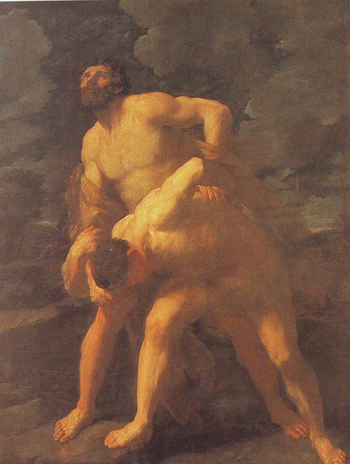 Hercules Wrestling With Achelous   Guido Reni   oil painting