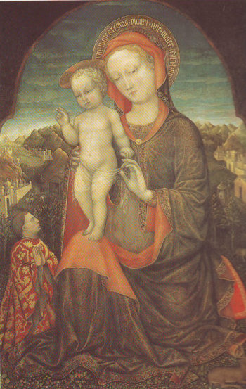 The Virgin And Child Adored By Lionello D Este | Jacopo Bellini | oil painting