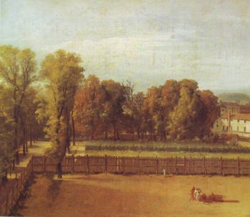 View Of The Garden Of The Luxembourg Palace | Jacques-Louis David | oil painting