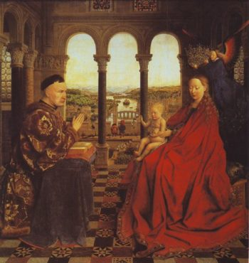 The Virgin Of Chancellor Rolin | Jan Van Eyck | oil painting