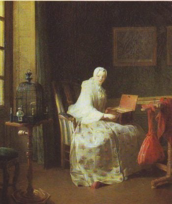 The Bird-Organ | Jean Baptister Simeon Chardin | oil painting