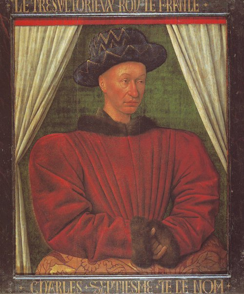 Charles VII | Jean Fouquet | oil painting
