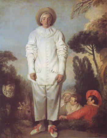 Pierrot | Jean-Antoine Watteau | oil painting