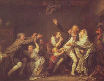 The Paternal Curse Or An Ungrateful Son | Jean-Baptiste Greuze | oil painting