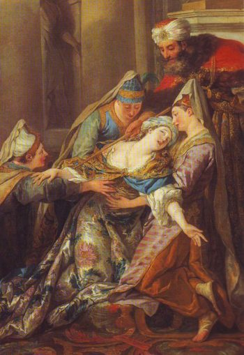 Esther Fainting Before Ahasuerus | Jean-Francois De Troy | oil painting