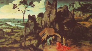 St Jerome In The Desert | Joachim Patenier | oil painting