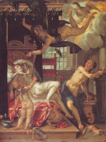 Jupiter And Danae | Joachim Wtewael | oil painting