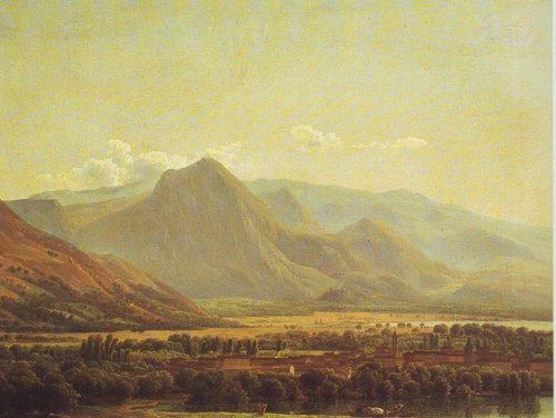 View Of The Town Of Avezzano | Joseph Bidauld | oil painting