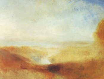 Landscape With Distant River And Bay   Joseph Mallord William Turner   oil painting