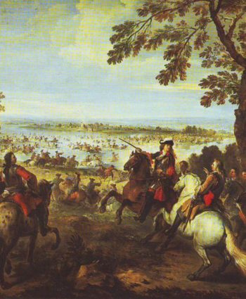 Crossing Of The Rhine By The Army Of Louis XIV On 12 June 1672 | Joseph Parrocel | oil painting