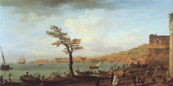 View Of Naples With Mt Vesuvius | Joseph Vernet | oil painting