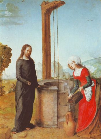 Christ And The Woman Of Samaria | Juan De Flandes | oil painting