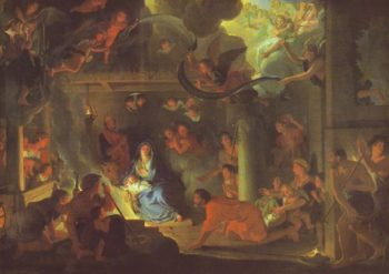 The Adoration Of The Shepherds   Le Brun   oil painting