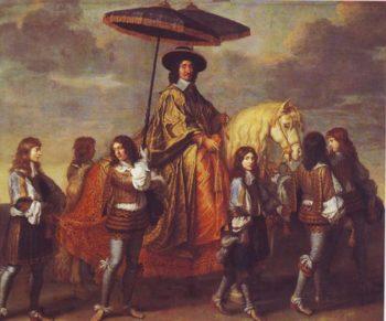 The Chancellor Seguier   Le Brun   oil painting