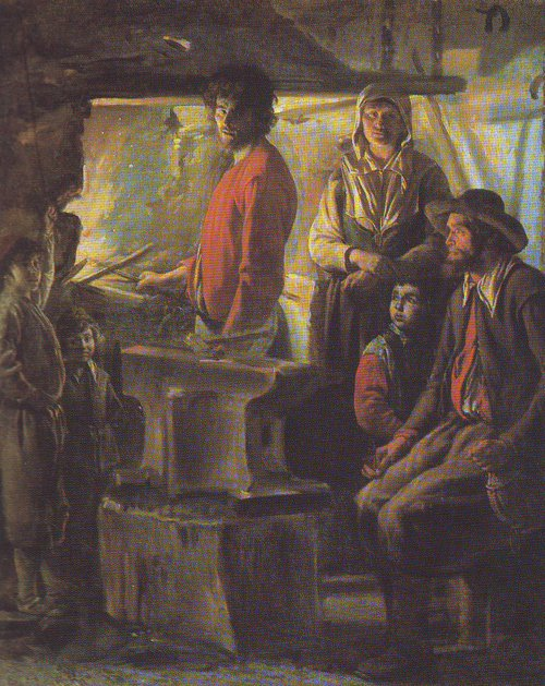 A Farrier In His Forge | Le Nain | oil painting