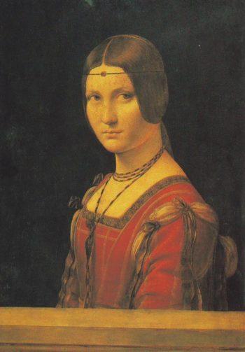PORTRAIT OF A Lady At The Court Of Milan | Leonardo Da Vinci | oil painting