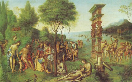 The Reign Of Comus   Lorenzo Costa   oil painting