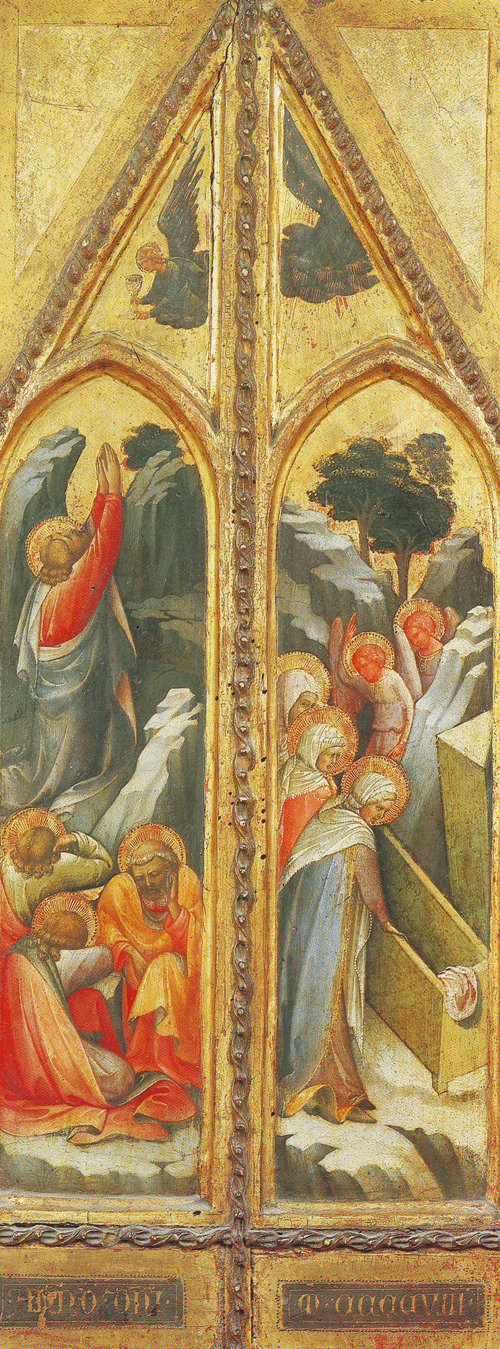 Christ In The Garden-The Women At The Sepulchre | Lorenzo Monaco | oil painting