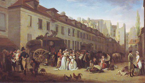 The Arrival Of A Coach | Louis Leopold Boilly | oil painting