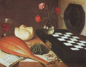 Still Lofe With A Chessboard | Lubin Baugin | oil painting