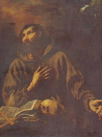 The Vision Of St Francis Of Assisi | Luis Tristan | oil painting