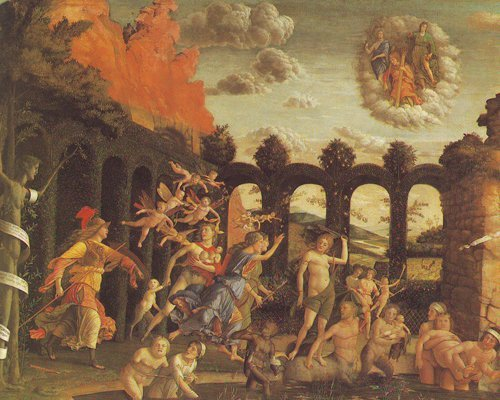 Minerva Chases The Vices From The Garden Of Virtue | Mantegna | oil painting