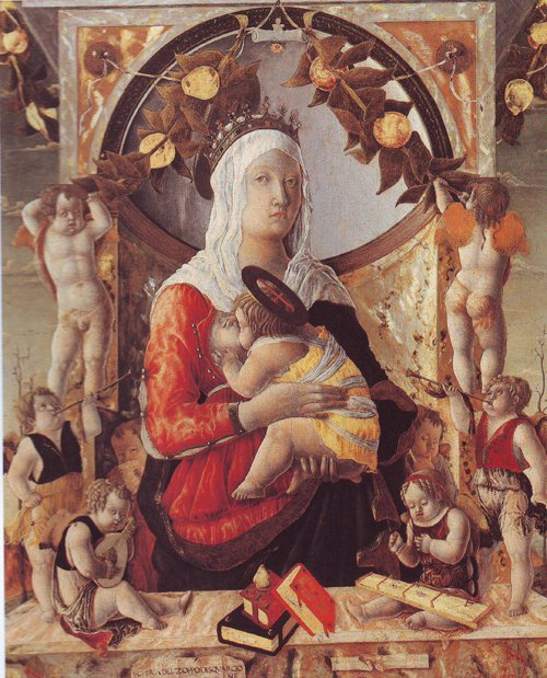 The Virgin And Child Surrounded By Eight Angels | Marco Zoppo | oil painting