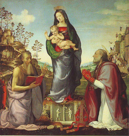 The Virgin And Child | Mariotto Albertinelli | oil painting