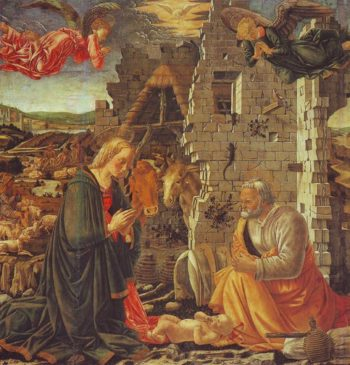 The Nativity | Master Of The Louvre Nativity | oil painting
