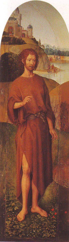 St John The Baptist   Memling   oil painting
