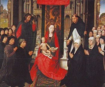 The Virgin And Child Between St James And St Dominic | Memling | oil painting